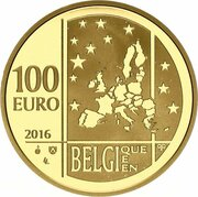 100 euros Gabrielle Petit – avers