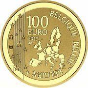100 euros René Magritte -  avers