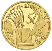 50 euros Traité de Rome -  avers