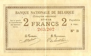 2 Francs (Comptes courants) – avers