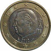 1 euro Albert II (2e carte, 2e type, 1ère effigie) -  avers