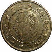 50 cents d'euro Albert II (1ère carte, 1er type, 1ère effigie) -  avers