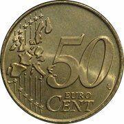 50 cents d'euro Albert II (1ère carte, 1er type, 1ère effigie) -  revers