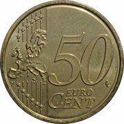 50 cents d'euro Albert II (2e carte, 1er type, 1ère effigie) -  avers
