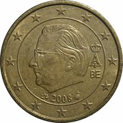 50 cents d'euro Albert II (2e carte, 2e type, 2e effigie) -  avers