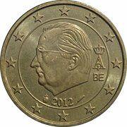 50 cents d'euro Albert II (2e carte, 2e type, 1ère effigie) -  avers