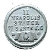 """Jeton cadeau publicitaire """"Restaurants Quick GB"""" - (II - Neapolis Stater) – revers"""