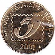 Belgian Post - 50j. Koningin Elisabeth wedstrijd – revers