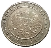 Jeton section allemande Gand 1913 – avers