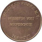 Token - Bascules Robbe N.V. – revers
