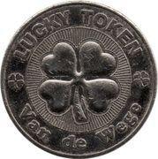 Lucky token Van de Wege (with four-leaf clovers) – avers