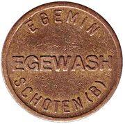Jeton de lavage automobile - Egemin (Schoten) – avers