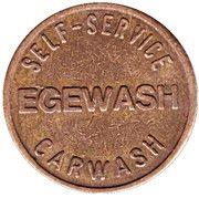 Jeton de lavage automobile - Egemin (Schoten) – revers