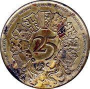 25 Westvlaander (9 coats of arms) – revers