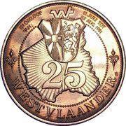 25 Westvlaander (Blankenberge, Nieuwpoort, Oostende) – revers