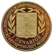 1 Denarius Liège – revers