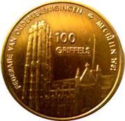 Jeton 100 Griffels (Mechelen) – revers