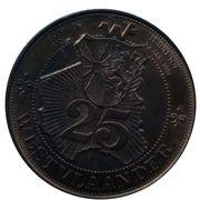 25 Westvlander (Poperinge Moorslede Gistel) – revers