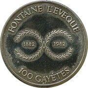 Jeton 100 Gayétes (Fontaine l'Évêque) – revers