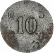 10 centimes - Alimentation (Thuin) – revers