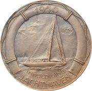 Medal - opening of the new yacht harbour – revers