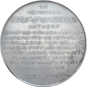 Medal - Death of Paul Huybrechts – revers
