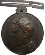 Belgique Médailles Léopold III Dour – avers