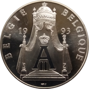 Médailles Belgique Albert II Prestation de Serment – revers