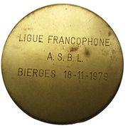 Médailles Belgique Jeu de Dames 1979 – revers