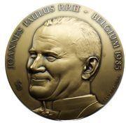 Belgique Médailles Première visite de Jean-Paul II en Belgique, 1985 – avers