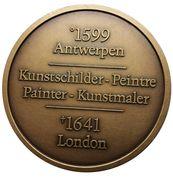 Medailles Belgique 400ème anniversaire de Van Dijck, 1999 – revers