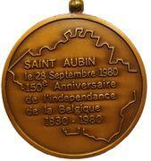 Médailles Belgique Médaille Saint Aubin, 150 ans d'Indépendance, 1980 – revers