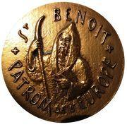 Belgique Médailles Saint Benoît, Patron de l'Europe – avers