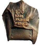 Médaille Belgique 100 ans de cinéma – avers