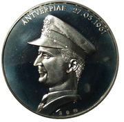 Médailles Belgique Prince Albert Officier de Marine – avers