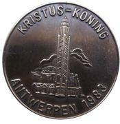 Médailles Belgique Kristus Rex (uniface) – avers
