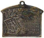 Plaquette Chers écoliers bruxellois de 1915-1916 – revers