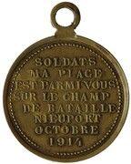 Médaille Soldats de Nieuport – revers