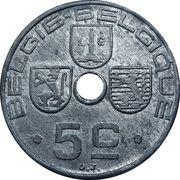 5 centimes - Léopold III - type Jespers (Belgique-Belgie) – revers