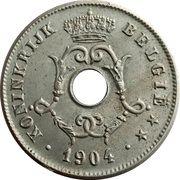 10 centimes - Léopold II - type Michaux (en néerlandais, grande date) -  avers