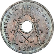 5 centimes - Albert Ier - type Michaux (en néerlandais, sans étoile) – avers