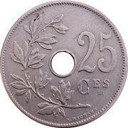 25 centimes - Léopold II - type Michaux (en français) -  revers