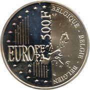 500 francs - Albert II - Bruxelles ville européenne de la culture – revers