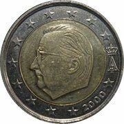 2 euros Albert II (1ère carte, 1er type, 1ère effigie) -  avers