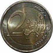 2 euros Albert II (1ère carte, 1er type, 1ère effigie) -  revers