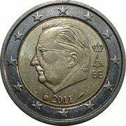 2 euros Albert II (2e carte, 2e type, 1ère effigie) -  avers