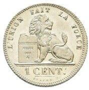 1 Centime - Léopold I (Pattern) – revers