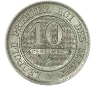 10 centimes - Léopold Ier (cupronickel) -  revers