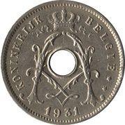 5 centimes - Albert Ier (en néerlandais, avec étoile) -  avers