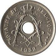5 centimes - Albert Ier (en français, avec étoile) – avers